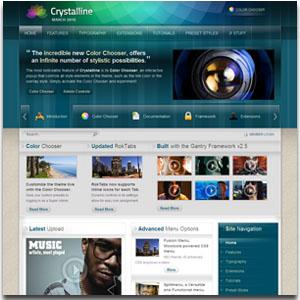 Crystalline Joomla Template