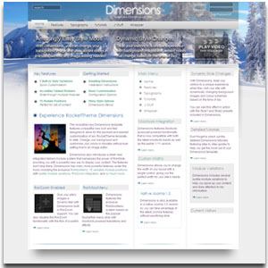 Dimensions Light Template
