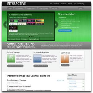 Interactive Joomla Template