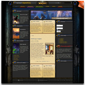 WoWTrooper Joomla Gaming Template