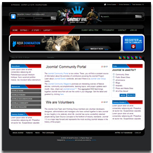 Gamefire Joomla Gaming Template