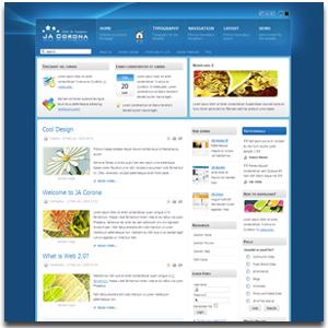 JA Corona Joomla Windows Vista Template