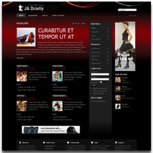 JA Dravity Joomla Models Template
