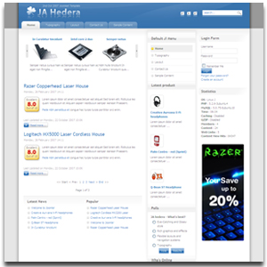 JA Hedera Joomla Technology Template