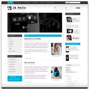 JA Helio Joomla Business Style Template