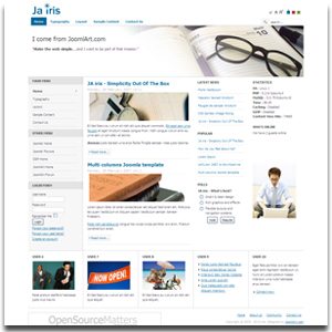 JA Iris Joomla HTML Template