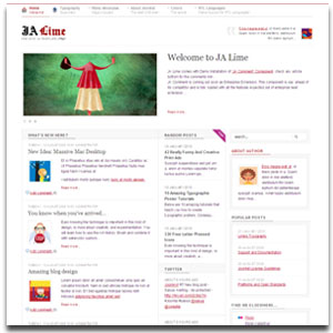 JA Lime Joomla Blogging Template