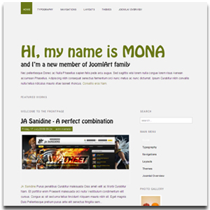 JA Mona Joomla Refreshing Template