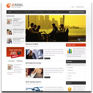 JA Nickel Joomla BusinessTemplate
