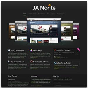 JA Norite Joomla Grid K2 Template