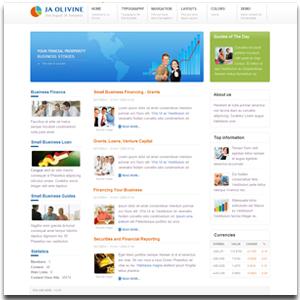 JA Olivine Joomla Business Vision Template