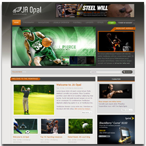 JA Opal Joomla Sports News Template