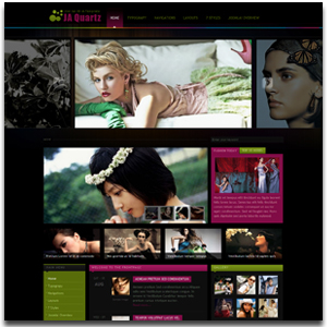 JA Quartz Joomla Fashion Show Template