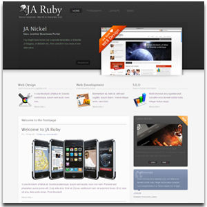 Ja ruby joomla template professional business portfolio joomla ja ruby joomla portfolio template cheaphphosting Image collections