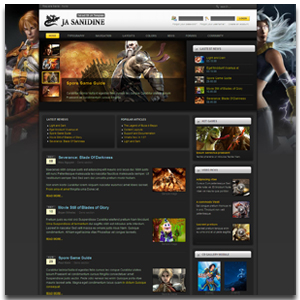 JA Sanidine Joomla Community Builder Template