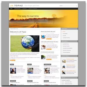JA Topaz Joomla Business Template