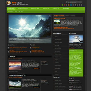 JV Gallery Joomla Photo Template