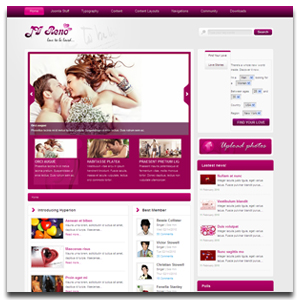 JV Reno Joomla Dating Template