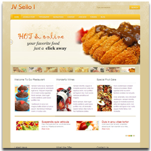 Jv sello i template joomla restaurant and food template jv sello i restaurant and food joomla template forumfinder Images