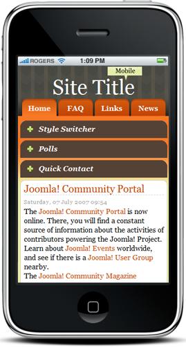 Mobile V2 Joomla Template