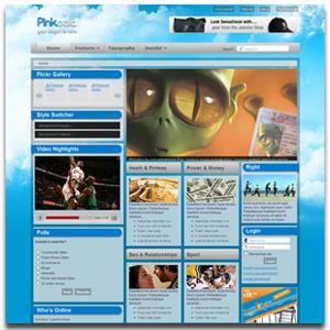 Pinkoola Joomla Transparent Template