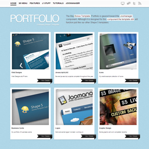 Portfolio Joomla Template
