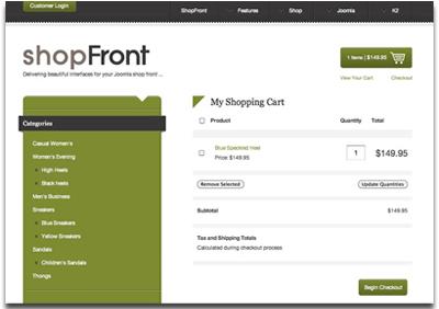 ShopFront Joomla Template