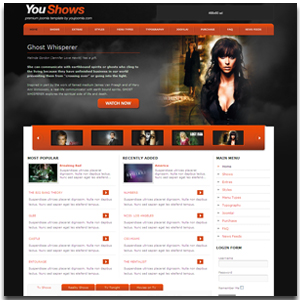 YouShows Joomla TV Template