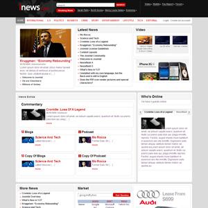 iNews Joomla Portal Theme