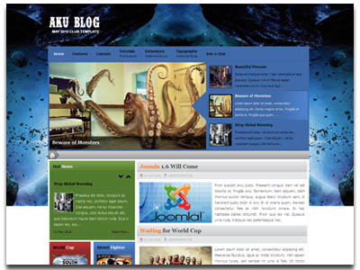 Aku Blog Joomla Template