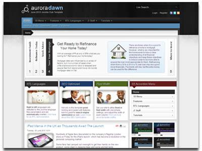 Aurora Dawn Joomla Template