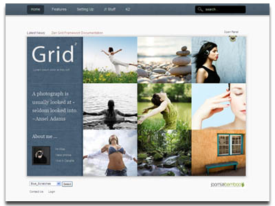 Grid2 Joomla Photography Folio Template