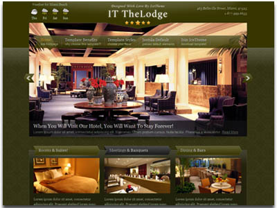 IT TheLodge Joomla Hotel Template
