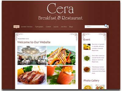JV Cera Joomla Restaurant Template