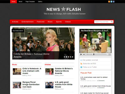 News Flash Templatic WordPress Theme