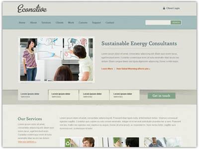 Eco friendly Joomla August Template