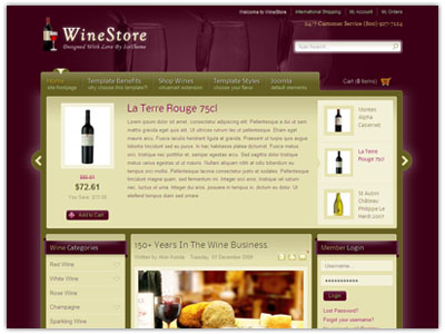 IT WineStore Joomla Template