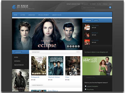 ja anion joomla template for movie review or cinema template with k2