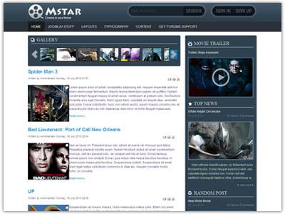 JV Mstar Joomla Movie Template