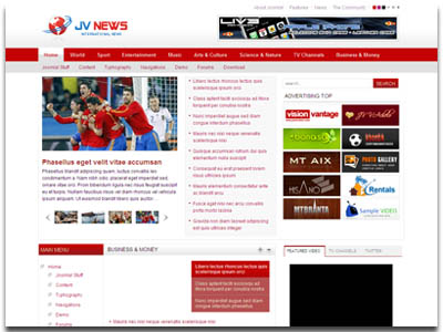 JV News II Joomla Magazine Template