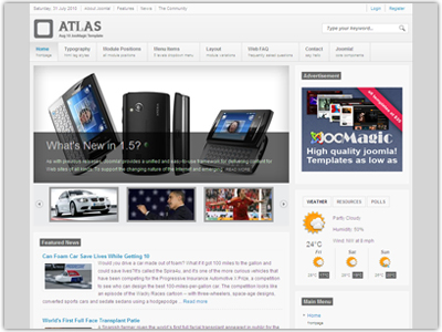 Magic Atlas Joomla Template