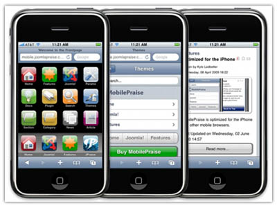 MobilePraise Joomla iPhone Template