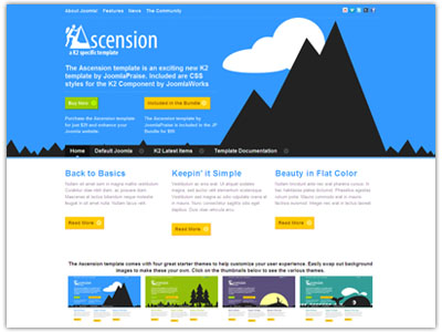 Ascension K2 Joomla Template