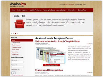 Avalon Joomla SEO Template