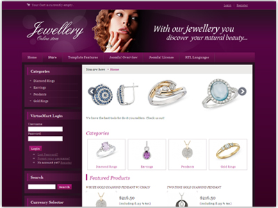 DJ Jewellery Joomla Template