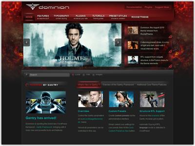 Dominion WordPress Dark Theme