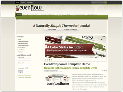 Evenflow Joomla Software Template