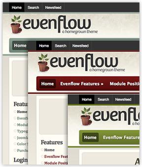 Evenflow Joomla Template Colors