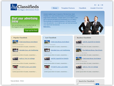 JM Classifieds Joomla Template