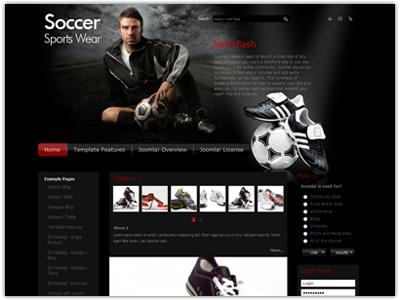 JM Sportswear Joomla Template